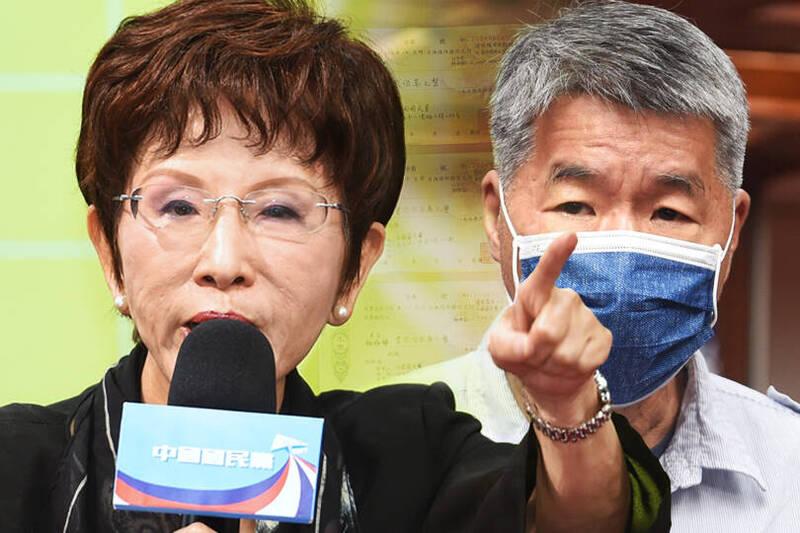 國民黨前主席洪秀柱(見圖)今天再度出面受訪,強調張亞中在中常會上的說法會引起誤解,讓別人對她的人格產生懷疑,所以她非常憤怒,才要出面澄清。(本報合成)