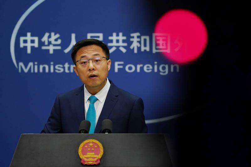 外傳美方考慮同意將駐美代表處更名「台灣代表處」,中國外交部發言人趙立堅今天說,中方已就有關動向向美方提出嚴正交涉。(歐新社擋案照)