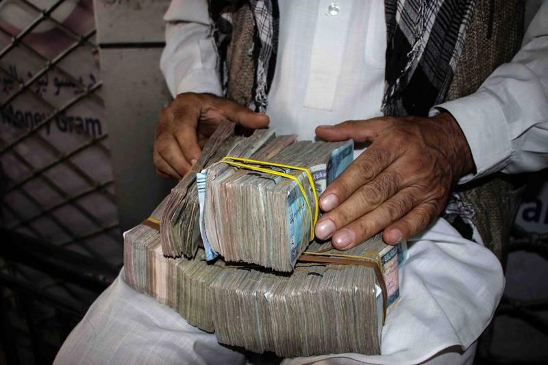 神學士正在調查阿富汗前高級官員的銀行帳戶,以查明是否有不義之財。(歐新社)
