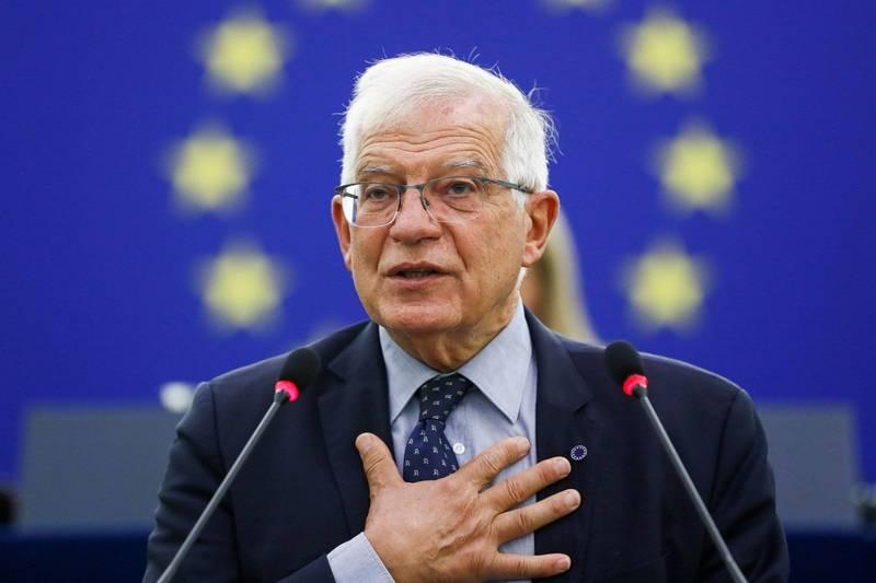 歐洲聯盟外交和安全政策高級代表波瑞爾今日表示,歐盟別無選擇,只能與神學士領導人對話。(路透)