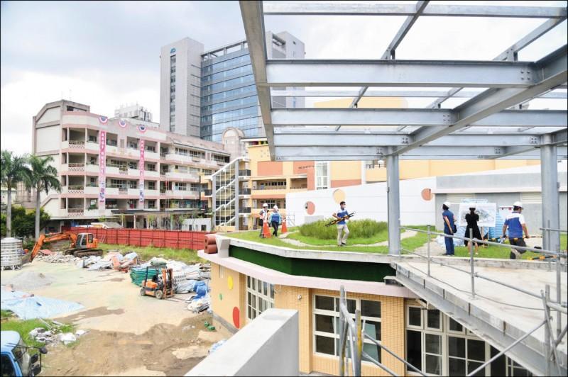 新北市興穀國小改建老舊校舍,市府投入3.3億元分4期整建。(新北市政府提供)