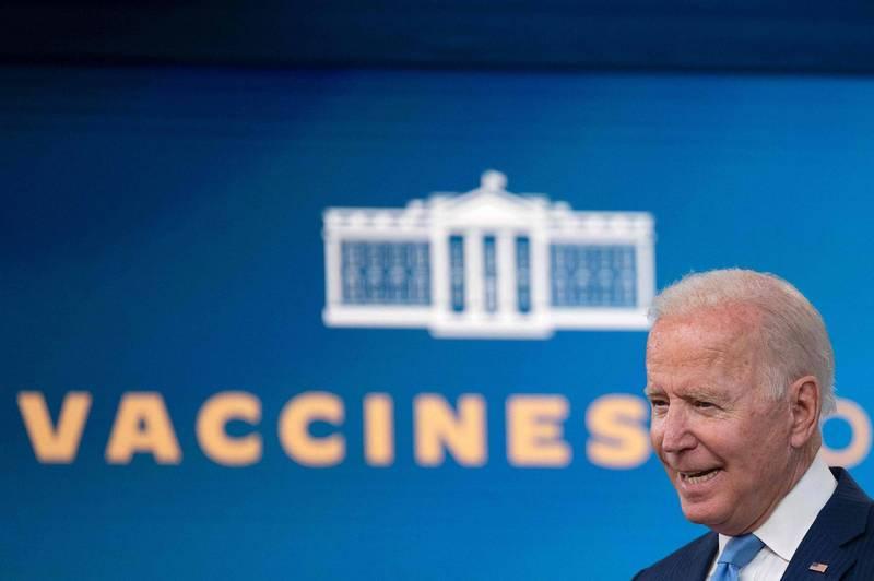 美國總統拜登8月23日在白宮說明防疫和疫苗政策。(法新社)