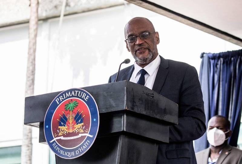 海地總理亨利(Ariel Henry)被檢察官列為總統刺殺案嫌疑犯。(法新社)