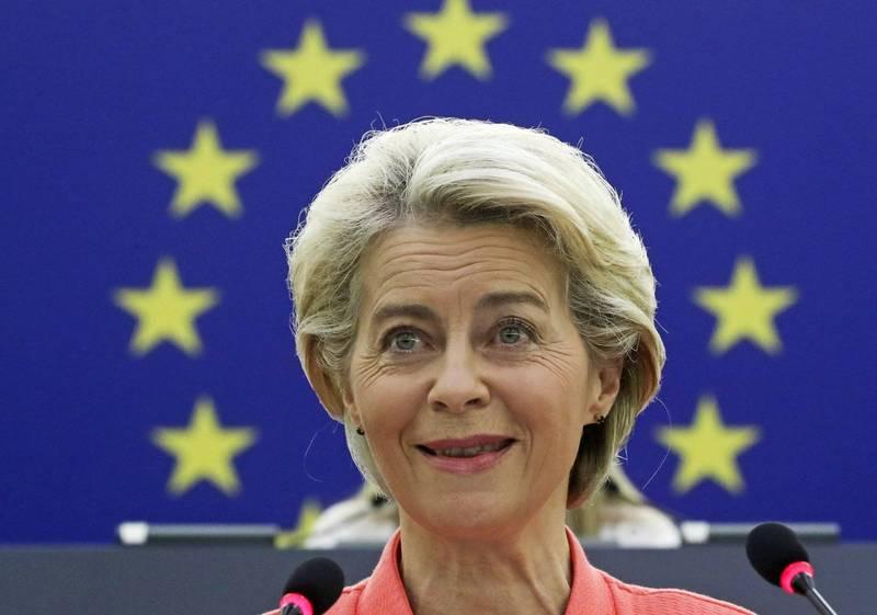 歐盟執委會主席馮德萊恩(見圖)承諾將會再捐2億劑疫苗給較貧窮國家。(美聯社)