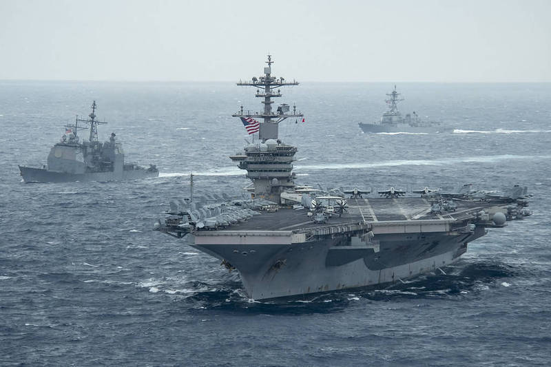 圖為美國與日本先前聯合軍演畫面。(圖擷取自美國太平洋艦隊官網)