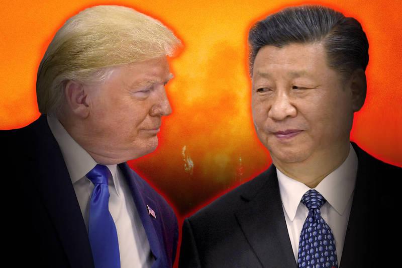 美國前總統川普與中國國家主席習近平。(美聯社、法新社,本報合成)