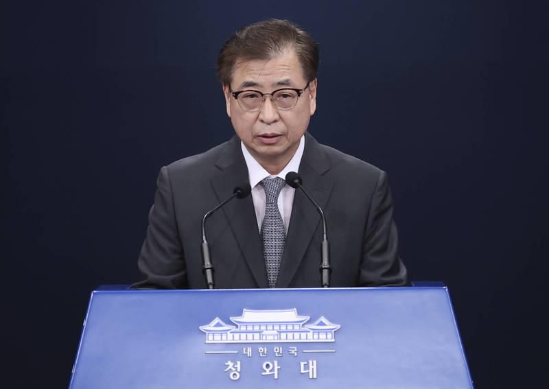南韓國家安保室長徐薰。(美聯社)