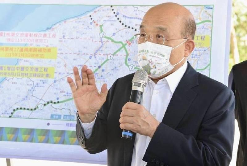 行政院長蘇貞昌明天將主持院會通過「海空戰力提升計畫採購特別條例草案」。(資料照)