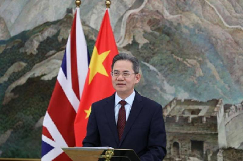中國駐英國大使鄭澤光被禁止進入英國國會大廈。(圖擷取自中國外交部)