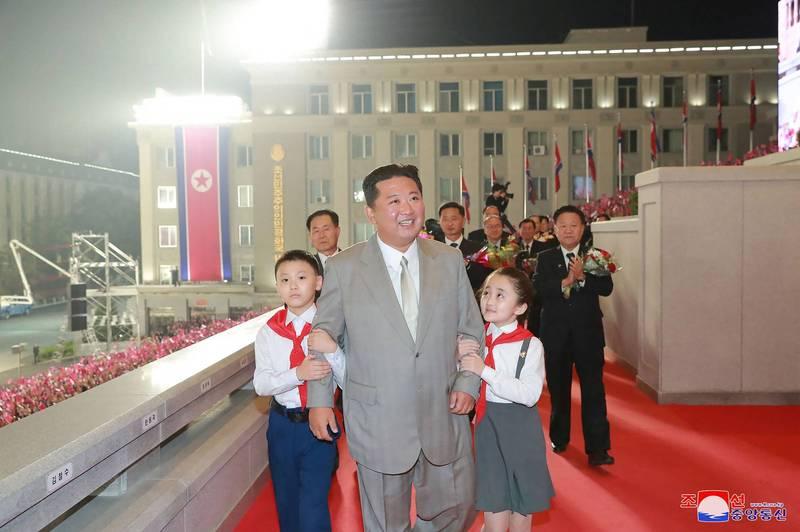 北韓9日慶祝建政73週年。(法新社)