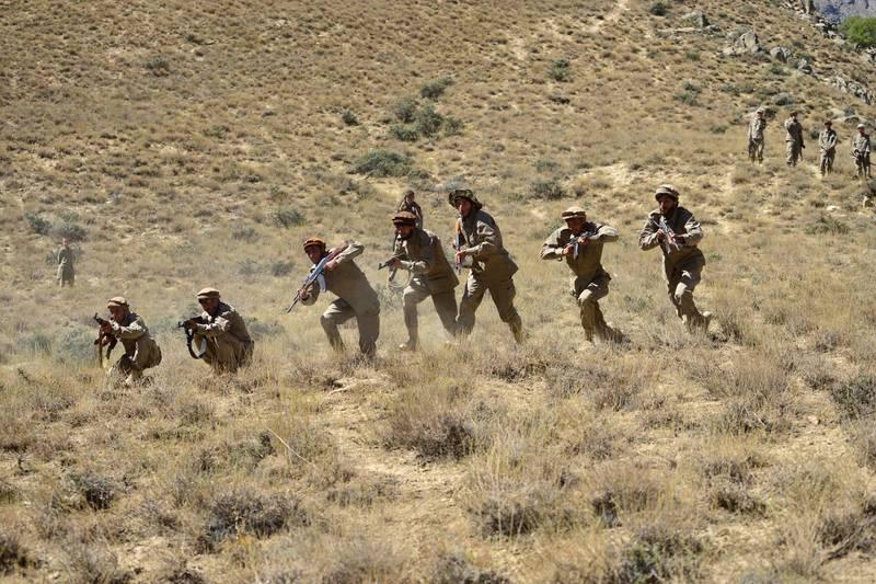阿富汗反抗軍「阿富汗民族抵抗陣線」在最後據點龐吉夏山谷(Panjshir Valley)的大本營,亟力反抗神學士戰士。(法新社)