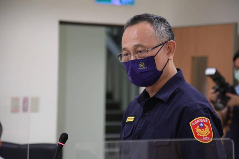 針對黑幫僱陣頭「歡送」竹東分局長事件,警政署長陳家欽強調公權力不容挑釁,一定嚴辦到底。(記者闕敬倫翻攝)