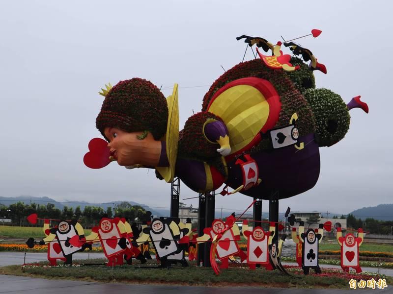 台中國際花毯節基於防疫考量及配合新社花海停辦,今年也喊卡。(記者歐素美攝)