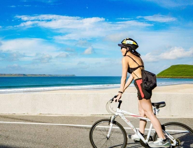 澎管處推出微解封旅遊,發起自行車線上自我挑戰活動。(澎管處提供)