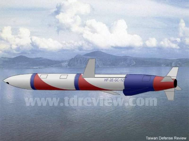 圖為台灣正在研發的雄二E巡弋飛彈想像圖。(資料照,圖片取材自台海軍情網站)
