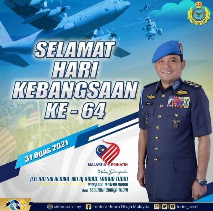 馬來西亞皇家空軍司令薩馬德上將。(圖擷取自Tentera Udara Diraja Malaysia官方臉書)