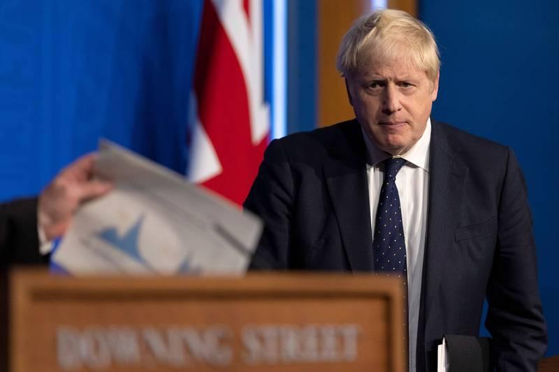 強森在宣布改組內閣後表示,疫情發展至今,內閣需要重回工作軌道,他強調新內閣人選將會提升及團結國家。(路透)