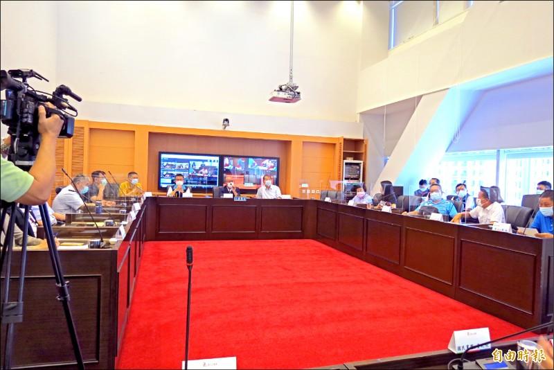 中市議會召開程序委員會,決定9月22日召開臨時會。(記者蘇金鳳攝)