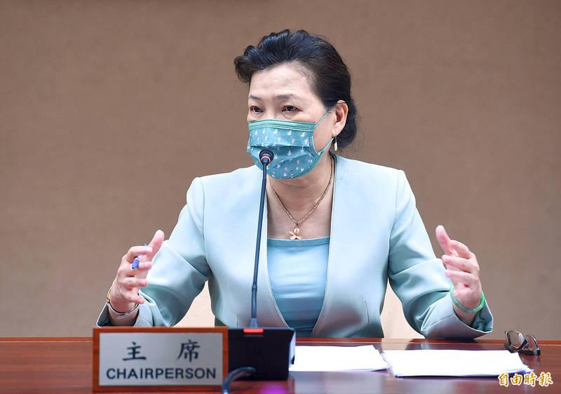 Minister of Economic Affairs Wang Mei-hua addresses a news conference in Taipei on Aug. 27. Photo: Liu Hsin-de, Taipei Times