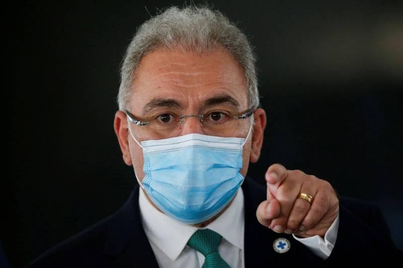 巴西衛生部長奎洛加(Marcelo Queiroga)建議各州應暫停對12至17歲無合併症的青少年接種武漢肺炎(新型冠狀病毒病,COVID-19)疫苗。(路透)