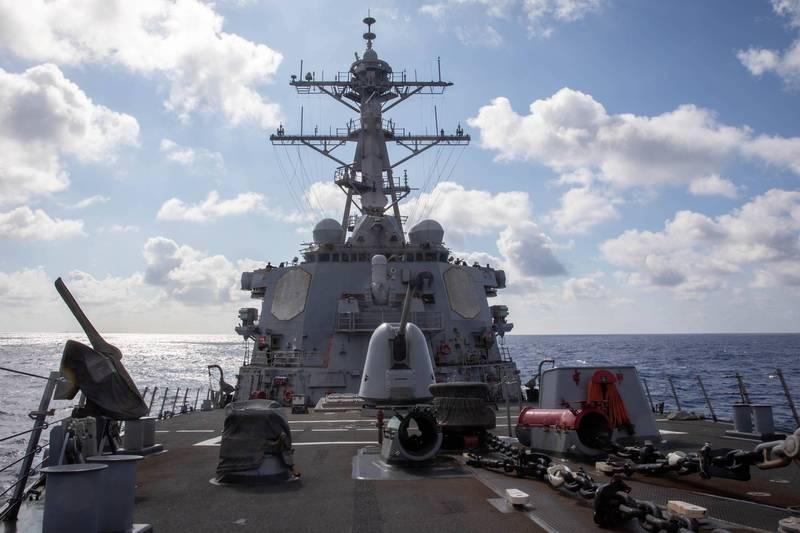 漢光演習最終日 美軍神盾艦通過台海