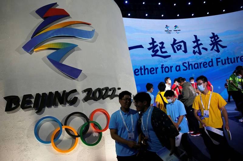 2022北京冬奧暨冬帕運口號為「一起向未來」(Together for a Shared Future)。(路透資料照)