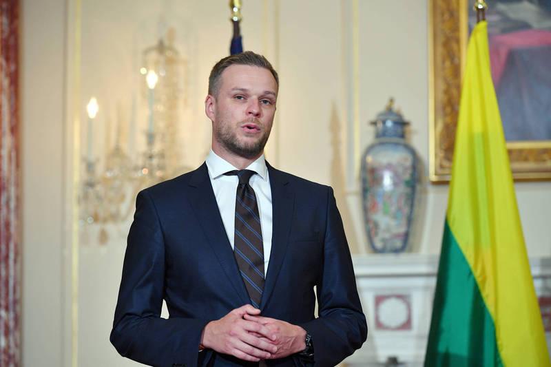 立陶宛外長藍斯柏吉斯。(美聯社)