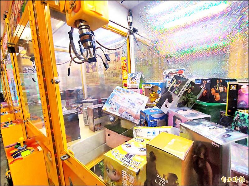 防疫警戒降級後,桃園市夾娃娃機業者陸續申請復業。(記者鄭淑婷攝)