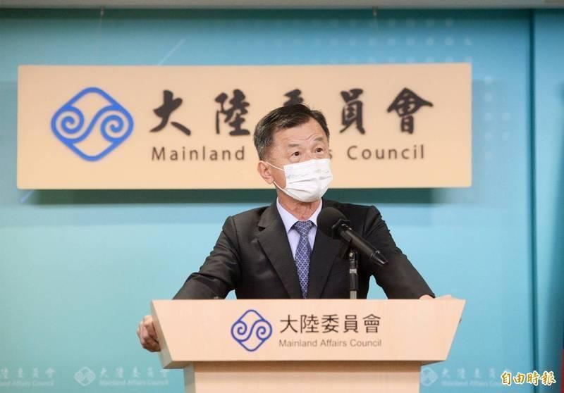 中國海關總署通報自明日起,禁台灣釋迦和蓮霧輸入中國。陸委會今日強調,對兩岸農產品貿易「説斷就斷」的無理作法,「我們不能接受」!圖為陸委會主委邱太三。(資料照)