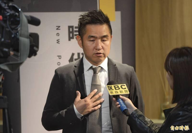 劉仕傑(見圖)表示,不曉得在這個應該同仇敵愾的時刻,「四位國民黨主席候選人,有哪一個敢站出來譴責中共?」(資料照)