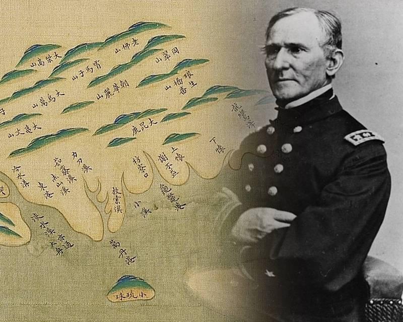 1867年6月13日,美國海軍東印度分艦隊司令貝爾上將指揮「福爾摩沙遠征行動」,最後以失敗告終。(圖擷取自國立故宮博物院數位典藏、美國NHHC,本報合成)