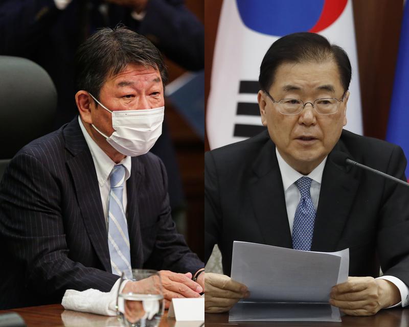 日韓外長近日相繼赴美出席聯合國大會,2人有望在當地進行會談。(歐新社資料照,本報合成)