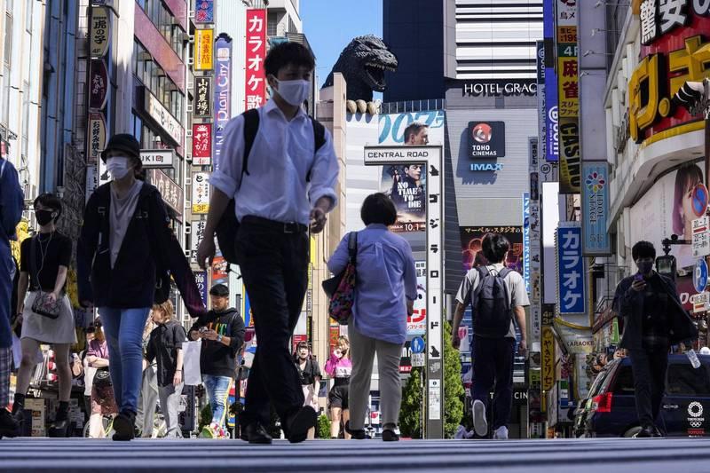 日本東京都COVID-19疫情持續降溫,今天新增302例確診病例,不僅連續5天單日新增低於千例,也是繼7月5日以來時隔約兩個半月,單日新增再度低於400例。(美聯社)