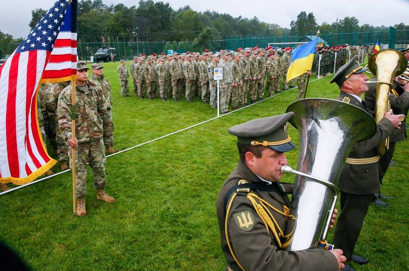 烏克蘭國防部指出,此次演習將有6000人參與,其中北約佔2000人。(路透)