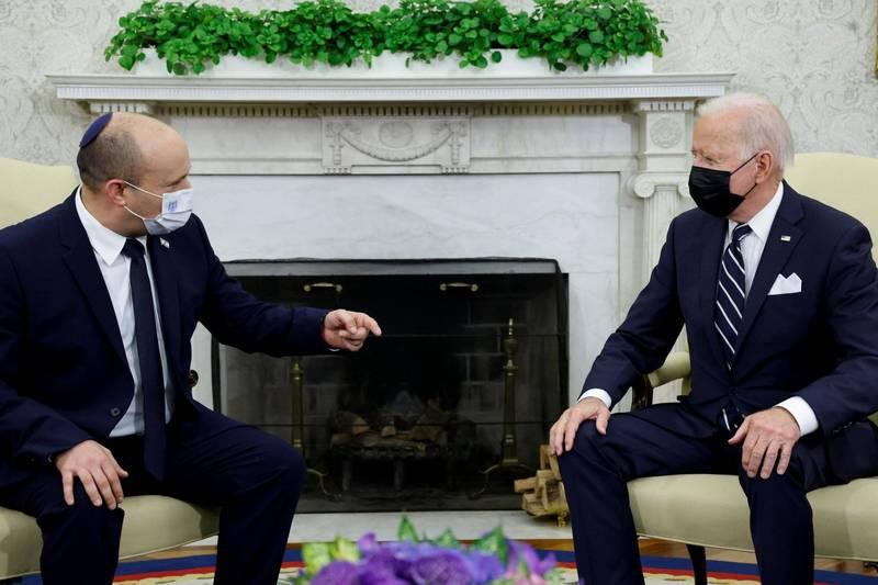 以色列前總理納坦雅胡聲稱,美國總統拜登上個月和以國新總理班奈特會面時睡著了,但納坦雅胡此言所根據的應該是先前在網路上流傳的假影片。(路透)