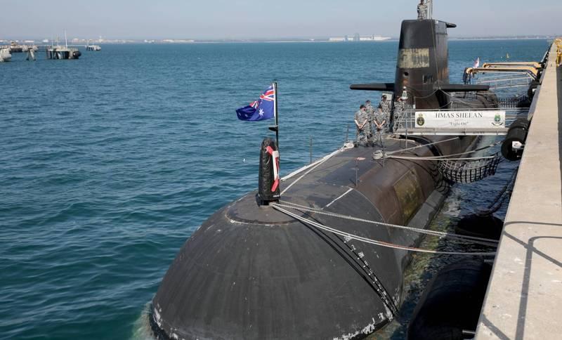 澳洲上週證實解除與法國的潛艦合約,改與英美達成防務協議,引發澳法外交齟齬。圖為澳洲潛艦SSG 77。(歐新社)