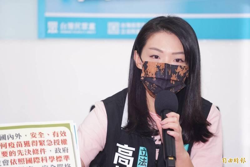 民眾黨立委高虹安。(資料照)