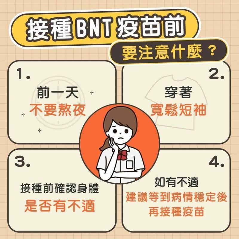 秋節過後,新竹縣的高中、國中生要陸續接種BNT疫苗,縣府提醒家長如何幫孩子面對這一針。(圖由縣府提供)(記者黃美珠攝)