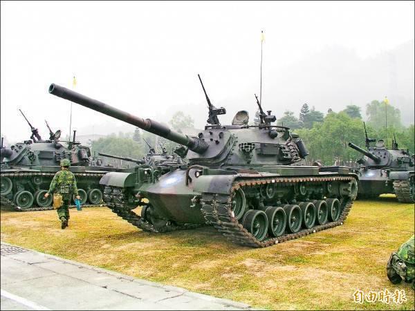 陸軍現役CM12戰車,未來隨著M1A2T戰車抵台並且部署服役後,CM12戰車將全面封存,並採分階段汰除。(資料照)
