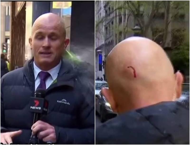 惨!墨尔本暴力示威 澳记者转播现场遭爆头、勒颈全都录
