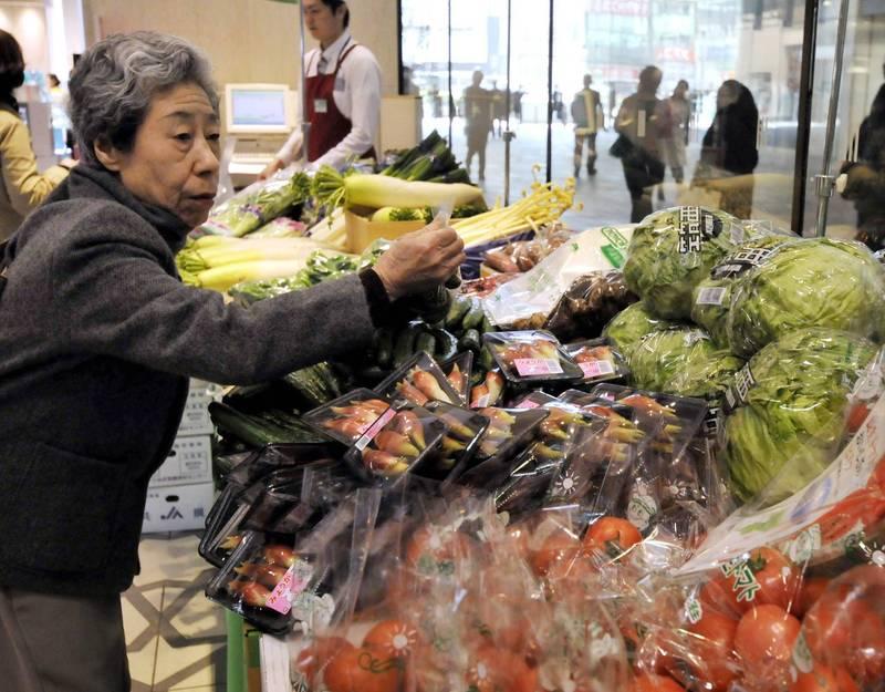 美國21日表示,日本福島產的稻米、各地的原木香菇、牛肉等100個品種的農產品可外銷美國。(法新社)
