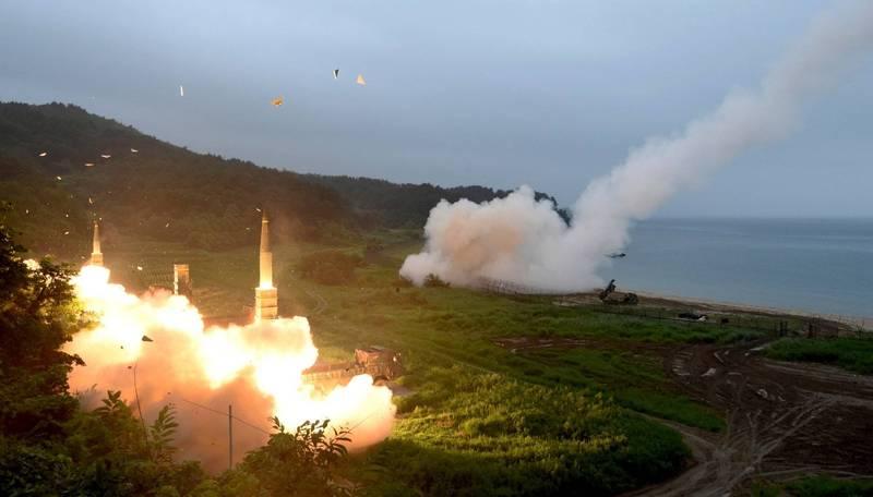 南韓在去年成功研發出「玄武-4」飛彈。圖為南韓「玄武-2」飛彈。(美聯社)