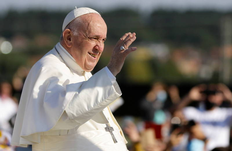 教宗方濟各7月接受手術康復後,於9月展開出訪行程。(路透)
