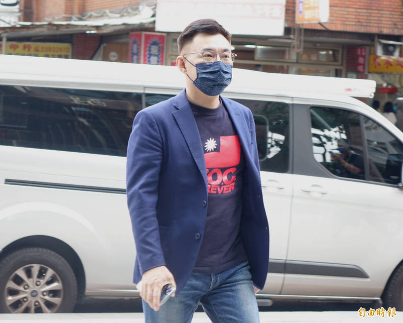 國民黨黨主席江啟臣接受「POP搶先爆」專訪。(記者王藝菘攝)