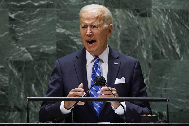 美國總統拜登在聯合國大會演說稱不尋求「新冷戰」,對此中國民運人士王丹認為,拜登此舉將被歷史證明犯下巨大錯誤。(法新社)