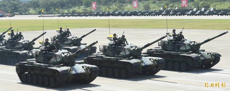 M60A3戰車曾參與2016的漢光31號國防戰力展示演習。軍方決定先投入4.4億元為部分戰車執行戰車系統更新。(資料照)