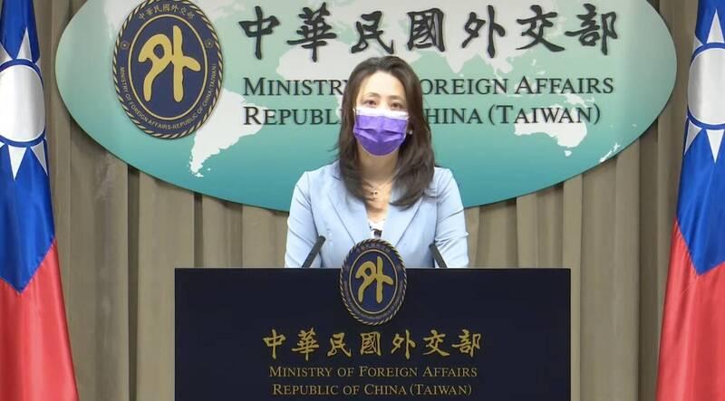外交部發言人歐江安。(圖取自外交部影片)