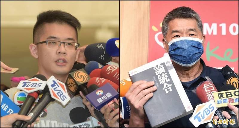 李勘(左)日前說要「公布張亞中(右)專書抄襲、還抄錯行的證據」,今天貼出3500字長文,列舉他認為抄襲的段落。(資料照,本報合成)