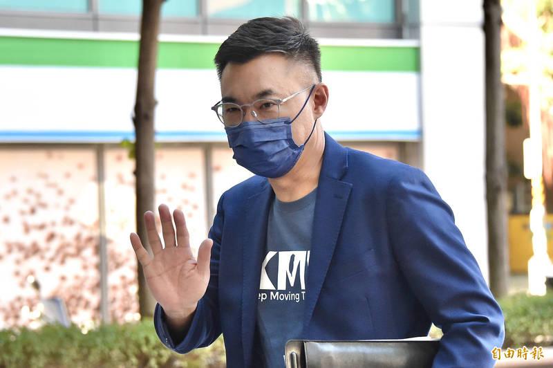國民黨主席江啟臣今日接受「POP撞新聞」專訪。(記者塗建榮攝)