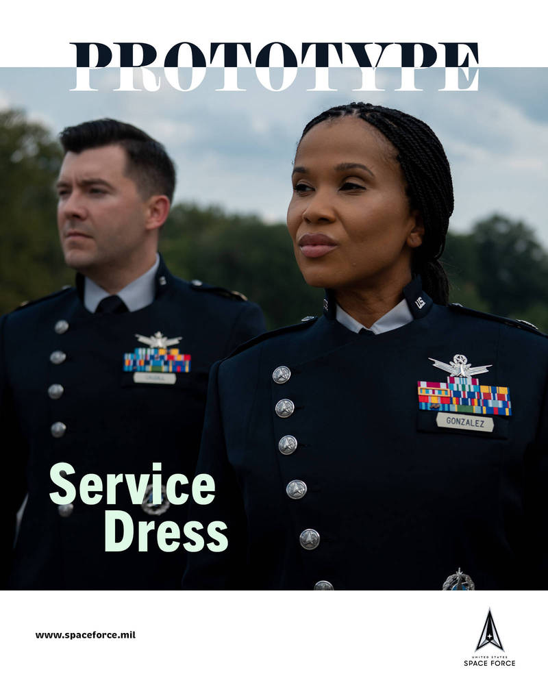 美太空軍公布新軍常服。(圖片取自「United States Space Force」推特)